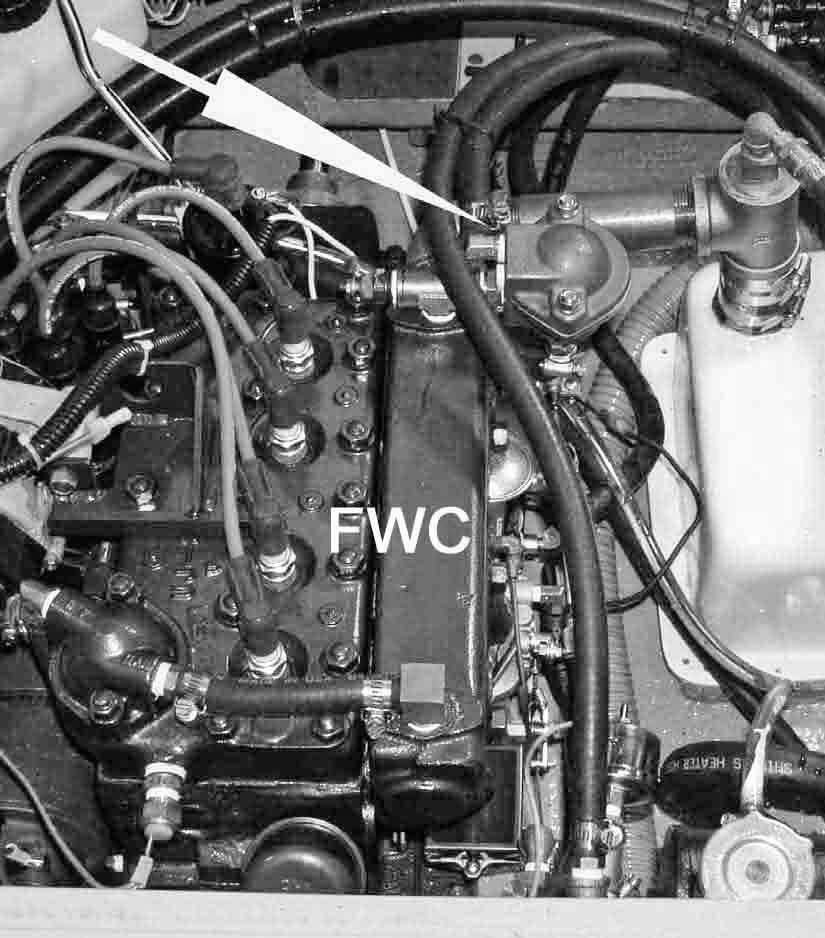 (Thermostat Installed on a Catalina 30, Transmission End of A4)